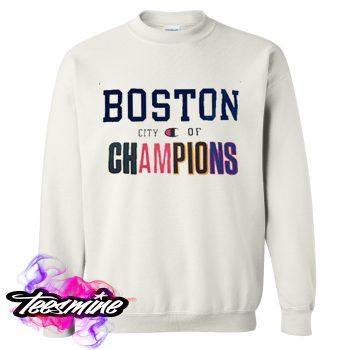Boston City of Champions Crewneck Sweatshirt