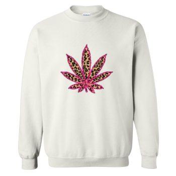Cannabis Marijuana Leaf Crewneck Sweatshirt