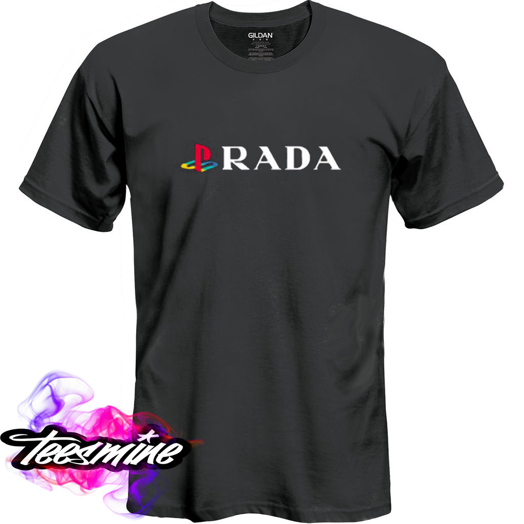 928eb2f96af5f4 Playstation Prada T Shirt - Teesmine   Custom T Shirt Store In USA