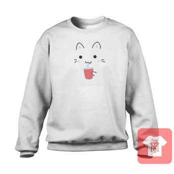 Cute Kawaii Cat Crewneck Sweatshirt