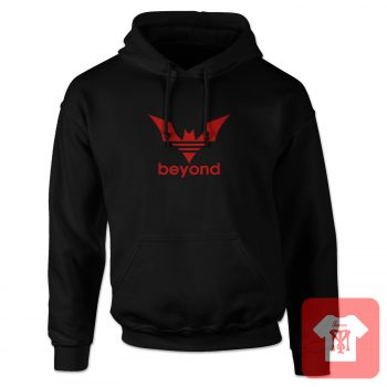 Beyond Bat Red Logo Parody Hoodie Design
