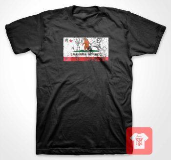 Big Foot California Republic T Shirt
