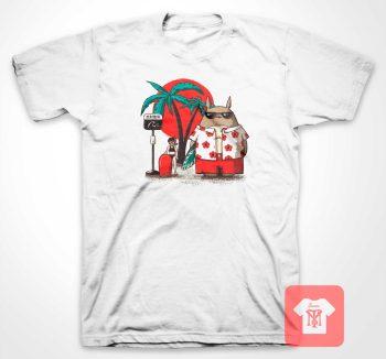 Summer Totoro Beach T Shirt