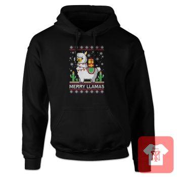 Merry Christmas Llama Hoodie
