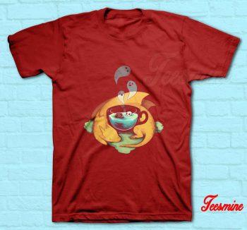Pumpkin Halloween Dragon T-Shirt Red