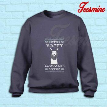 Ugly Llamakkah Sweatshirt Navy